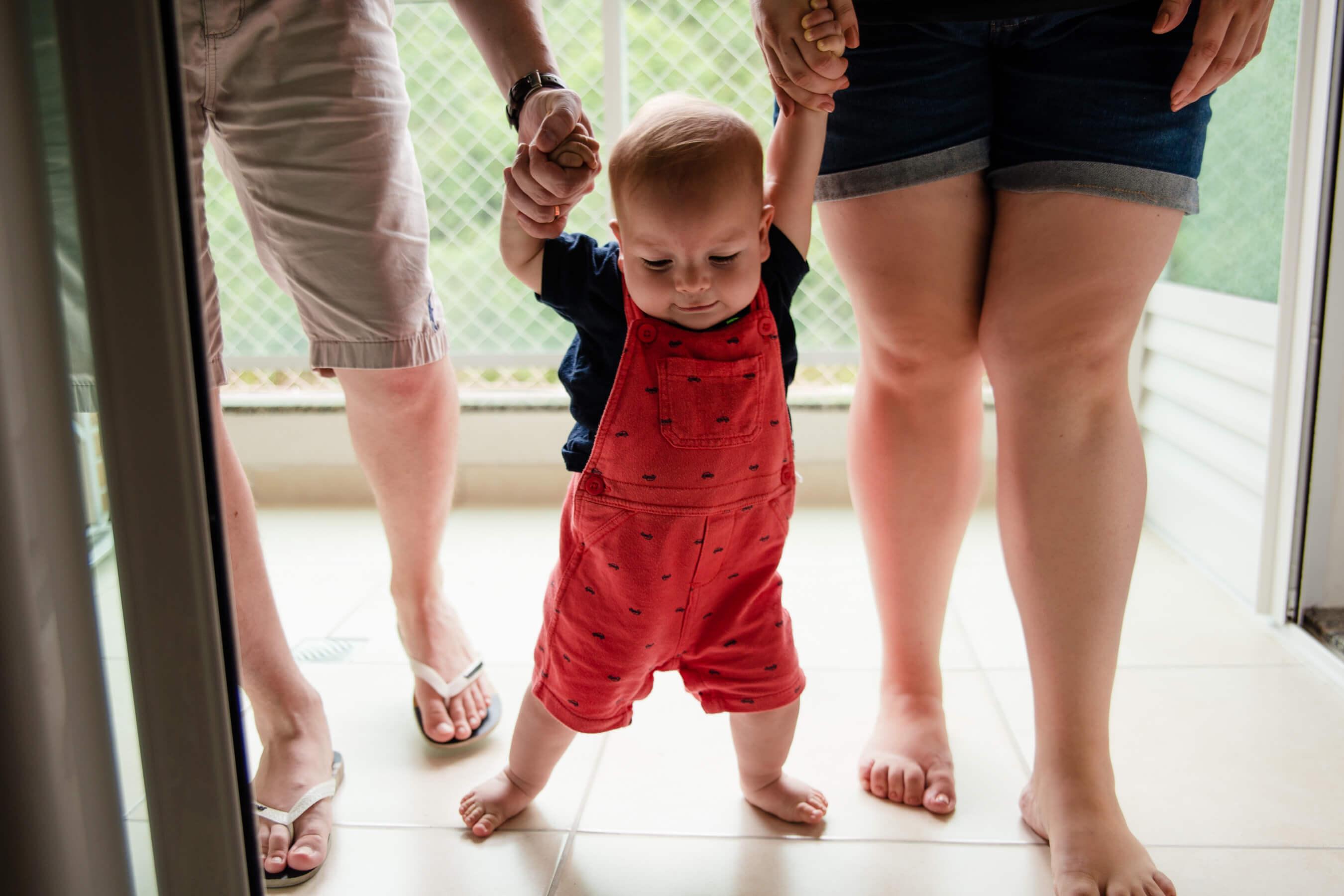 Ensaio bebe primeiros passos