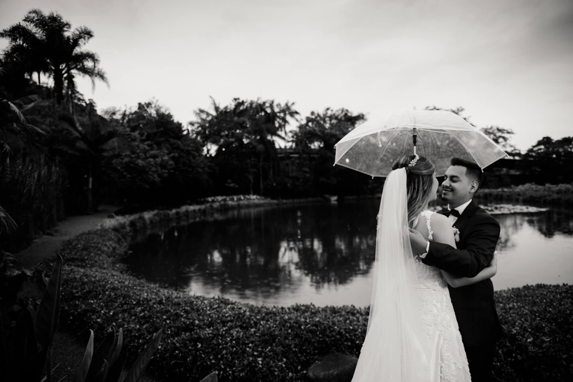 casamento com chuva joinville