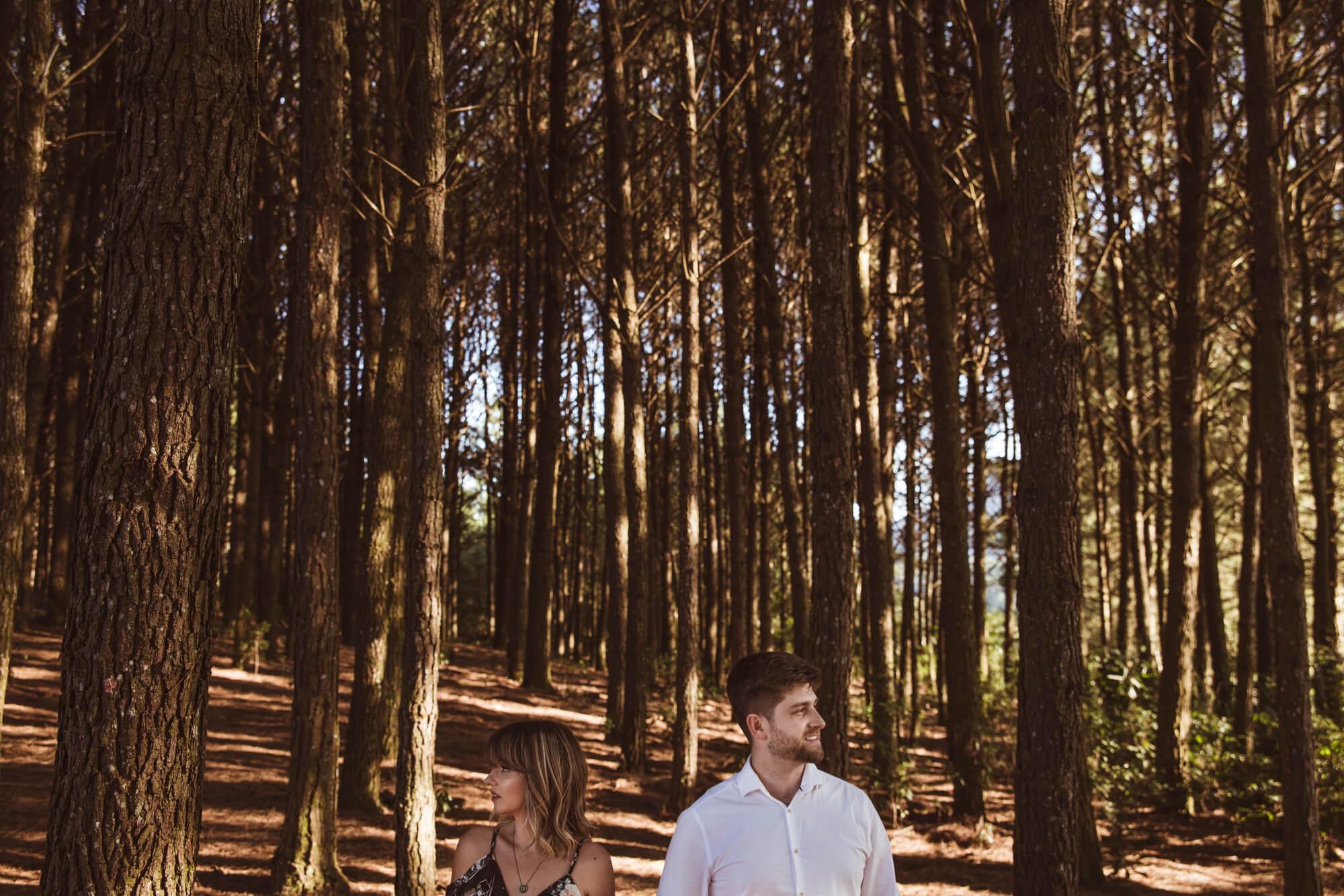 Ensaio Casal no Campo árvores