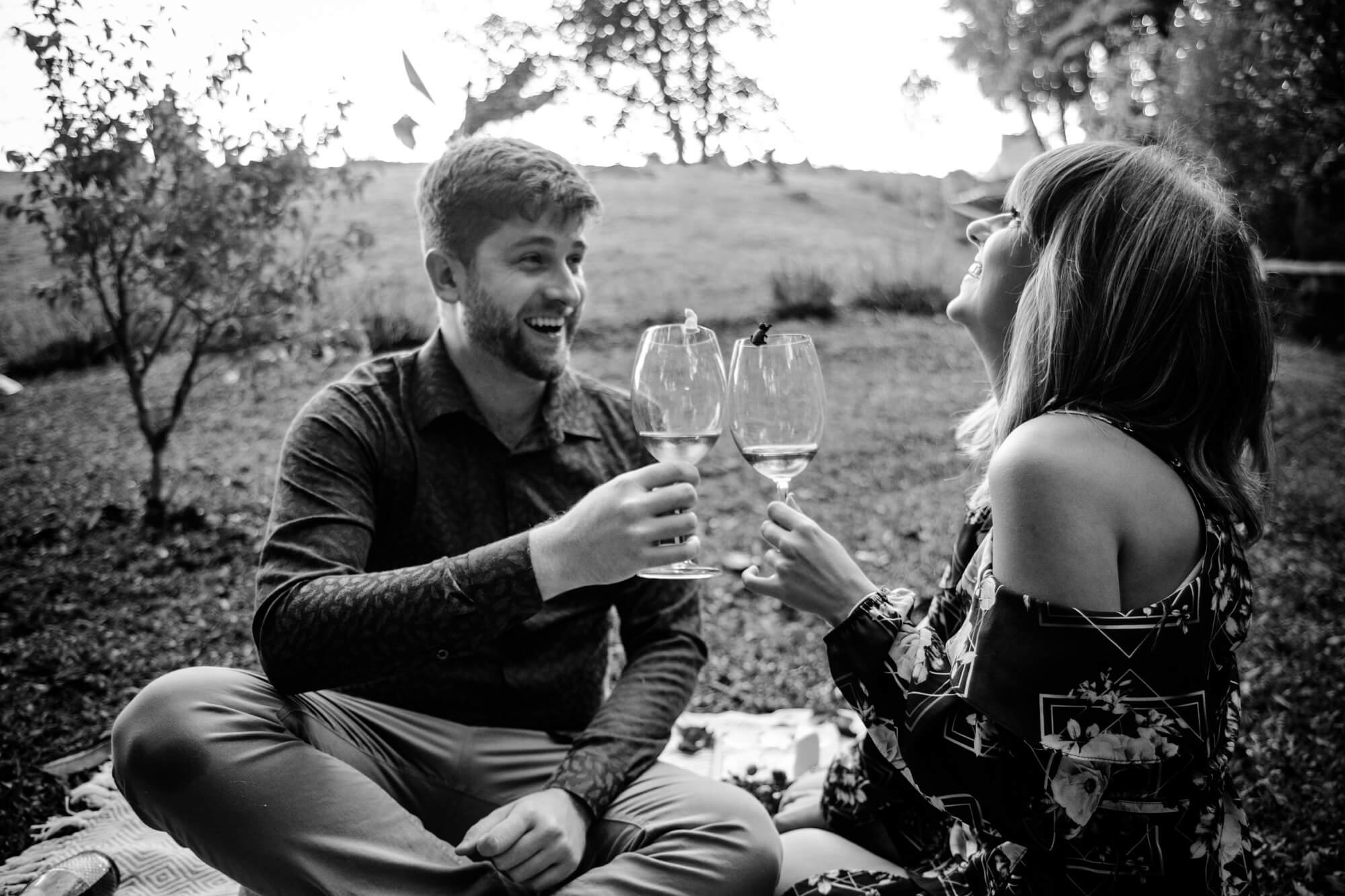 Ensaio fotográfico casal picnic