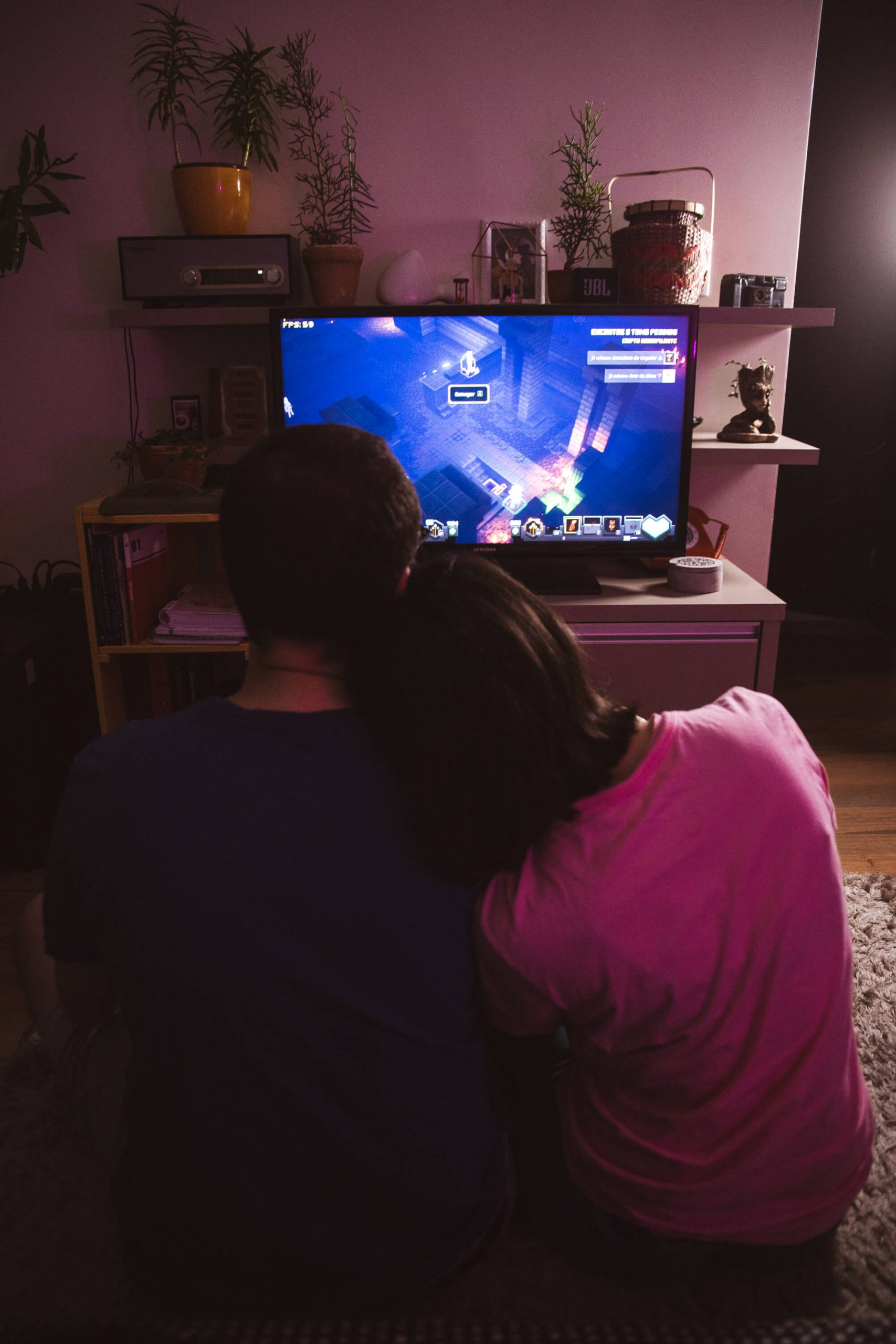 Ensaio casal jogando video game