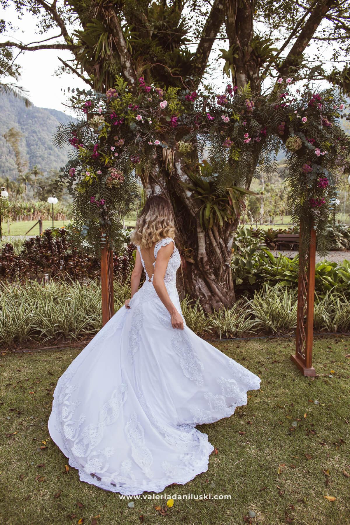 vestido de casamento ar livre