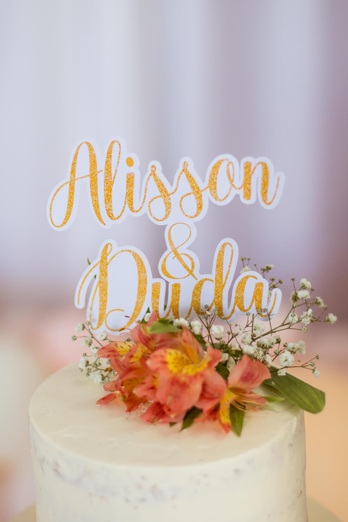 decoracao bolo casamento