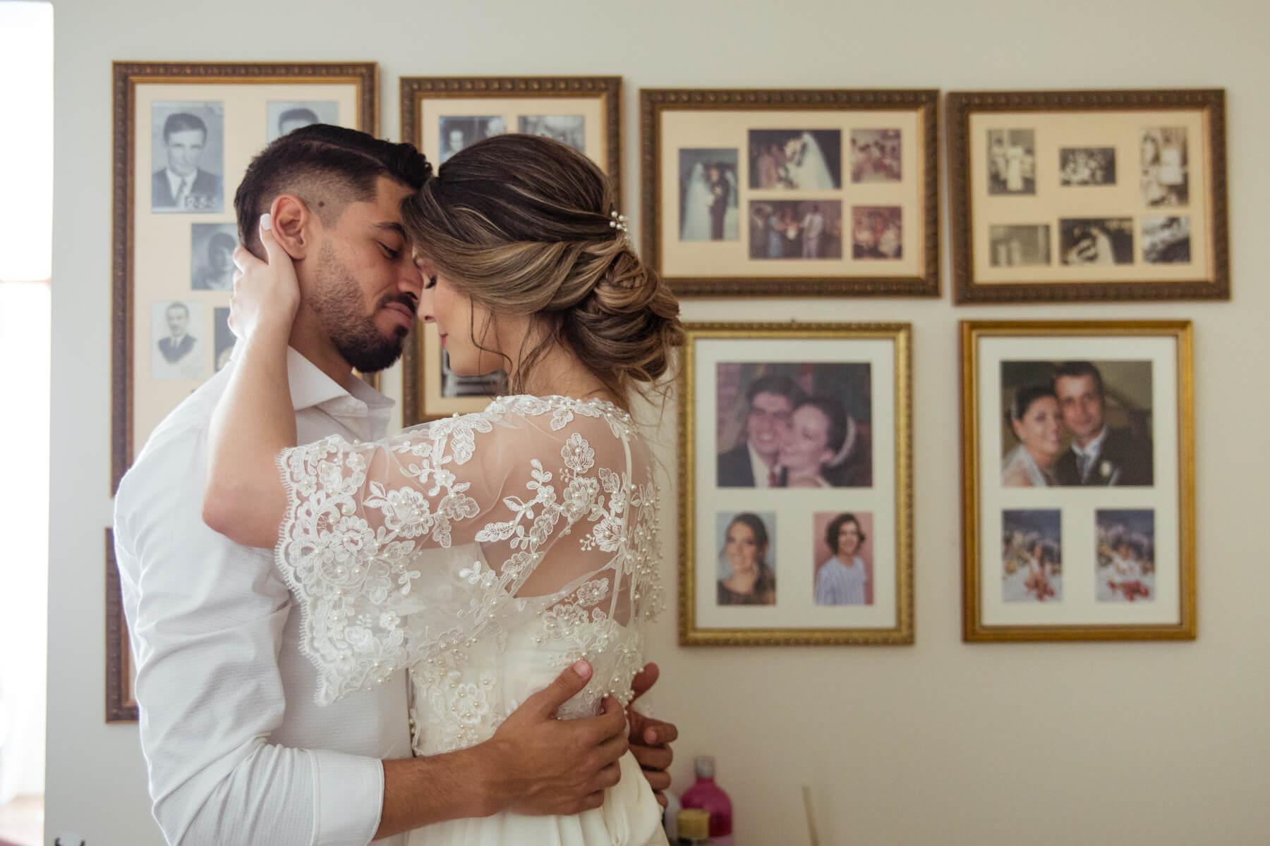 ensaio noivos em casa