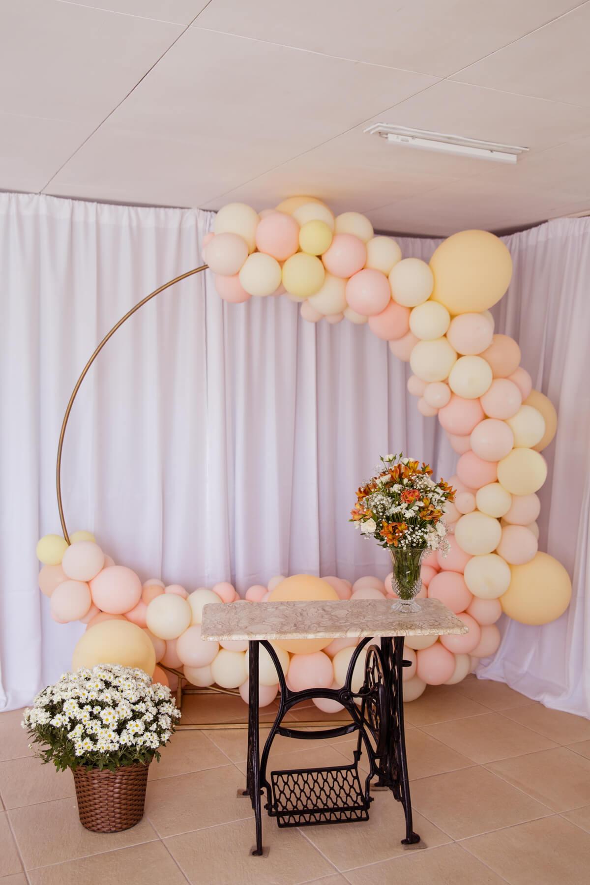 decoracao casamento com baloes